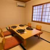 2階にはプライベートな個室を完備
