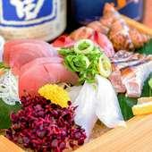 しっかりと脂ののった新鮮な旬魚の美味しさに陶酔する『刺身盛り』