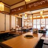 落ち着いた雰囲気。日本家屋をリノベーションした一軒家焼肉店