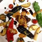 フォアグラと野菜のソテー