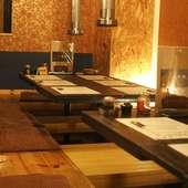 家族行事や宴会にぴったりの掘りごたつ式テーブル席を完備