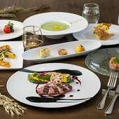 宮崎県産野菜や九州産の肉類でつくる、旬の味覚が豊富な料理