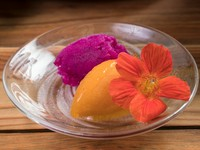 旬の果実の自然な味わい『季節のソルベ』