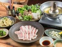 定番のしゃぶしゃぶコースに加え、島野菜の天婦羅などもずくや島らっきょといった、より沖縄をじっくりと味わえるコース。やんばるの幸を心行くまで堪能できます。