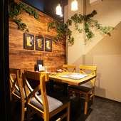 人目を気にせず、ゆっくり食事を楽しめる完全個室を完備