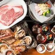 羅臼産ホッケ、生タラバガニなどの魚介や、野菜、特選肉など北海道各地で獲れた、新鮮な食材を中心に常時厳選して仕入れが行われています。北海道の新鮮な魚介を豪快に炭火焼で堪能できます。