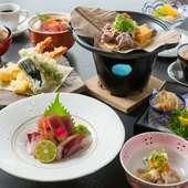 酒肴としての要素の強いメニューも加えるなどの工夫も。宴会料理としての会席コース『雅』