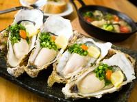 漁港から直送してもらう三陸産の牡蠣は新鮮そのもの。目当てに来店するゲストも多数の『生牡蛎』