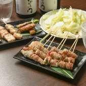 豚バラと野菜やチーズの組み合わせを楽しむ『野菜巻き串』