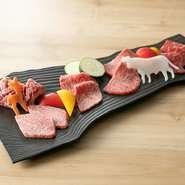 北海道黒毛和牛の旨みを炙りで堪能『本日の厳選五種盛り合わせ』