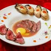 牡蠣と和牛のすき焼き