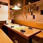 大小個室・半個室は2名~最大26名まで収容可能