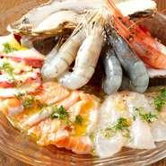 リザラン名物!鮮魚のカルパッチョ