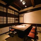少人数での集まりに最適なプライベート個室