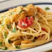 ダイレクトにウニを味わえる『たっぷりウニのペペロンチーノスパゲッティ』