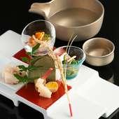 刻一刻と移り変わる美しい季節を一皿で表現『前菜』