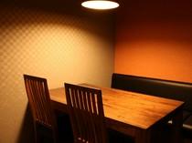 落ち着きある個室は、接待や食事会に最適