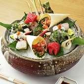 和歌山県産の獲れたて鮮魚をいただく『本日のお造り盛り合わせ(2人前)』