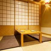 プライベートな時間を守ることができる個室を用意