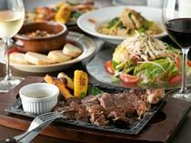 記念日には、コース料理で特別な食事を