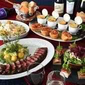 季節の節目の宴会に華やかなパーティ―プランを提案