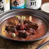 上質な赤身肉の旨み、甘みを存分に。『宮崎牛の炭火焼き』