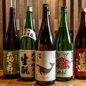 全国の地酒や季節の日本酒を提案