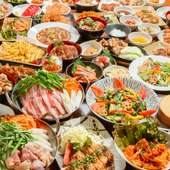 全50種以上の食べ放題&全70種以上の飲み放題で3時間3200円! リーズナブルな価格でお楽しみ頂けます♪