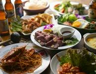 当店人気のアジアン料理含むボリュームたっぷり全10品!各種ご宴会にご利用ください。