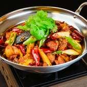 炎の鶏肉鍋