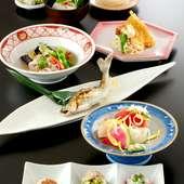 当コースでは、季節の美味しい食材を使用した全7品をお楽しみいただけます。