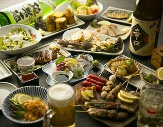 料理は70種以上から5品お選びいただけます。(※600円商品は2品)90分ラストオーダーです。