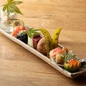 野菜を中心とした前菜/コース
