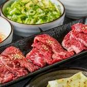 厳選焼肉食べ放題。上カルビや牛タンなど食べ放題