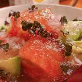 トマトとアボガドのジュレサラダ