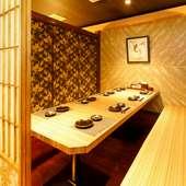 自慢の新鮮鮮魚や伊勢海老、蟹など豪華食材を使用したコース