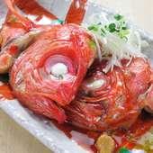 金目鯛のカブト煮