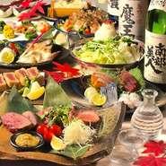 メインは春野菜と真鯛せいろ蒸し。旬食材を使用し料理長が厳選した逸品たちが飾る、ボリューム満点豪華コースです。特別なお祝いにも最適な内容となっています。