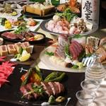 『匠コース』鮮魚盛り合わせ&選べるメイン付き 3時間飲み放題付全9品