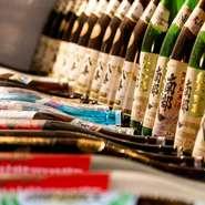 銘柄日本酒多数ご用意!寿司は店主お勧め日本酒とお楽しみください◎