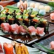 お時間たっぷりの贅沢お寿司食べ放題プラン◎雲丹やイクラ、大間の本マグロ大トロ、ノドグロ、ぼたん海老も♪極上ネタも全て食べ放題なんです♪