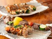 肉×野菜のコラボで大満足!『野菜串』