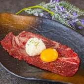 大判サーロインの炙り肉寿司