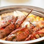 伊勢海老と鮮魚の海鮮鍋が味わえる当店最上級の贅沢な宴会コース