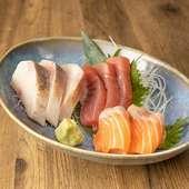 鮮魚のお刺身三種盛り