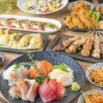 当店おすすめのお手軽宴会コース。前菜から甘味までお料理8品の充実した内容となっております。