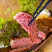 当店名物の仙台牛を使った(しゃぶしゃぶorステーキ)の選べるメイン料理が楽しめる宴会コース。