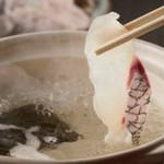 当店の自家製出汁で頂く「鯛しゃぶ」をメインに、お料理10品の豪華宴会コース。