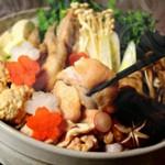 【GoToEAT対象店】塩ちゃんこ鍋がメインの忘年会コース。