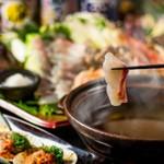 【GoToEAT対象店】選べる鍋料理(鯛しゃぶ/水炊き/もつ鍋)がメインの忘年会コース。